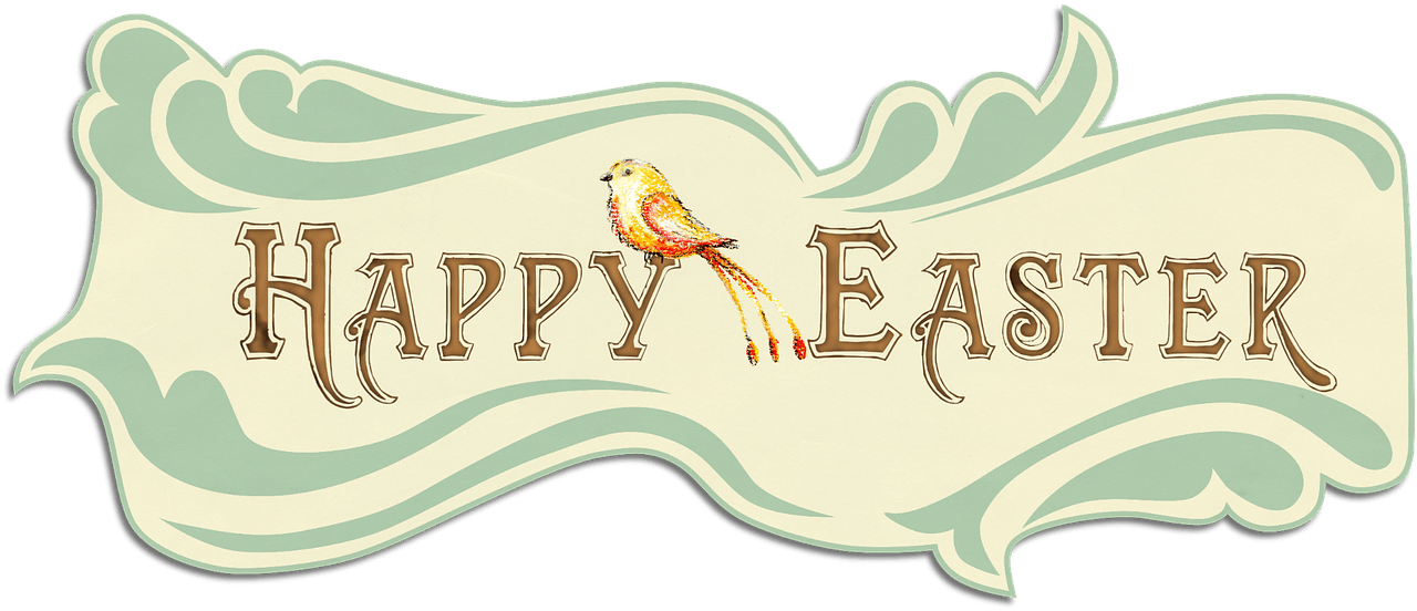 Happy Easter - Happy Easter Vintage Clip Art, Png Download