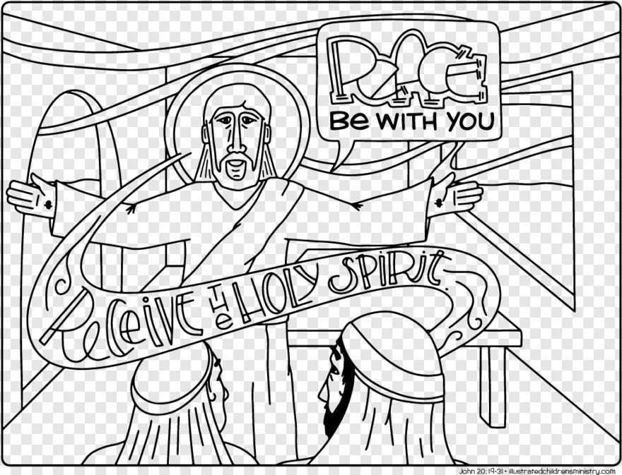 Holy Bible - John 20 19 31 Coloring Page, Transparent Png - 987x755  (#2336233) PNG Image - PngJoy