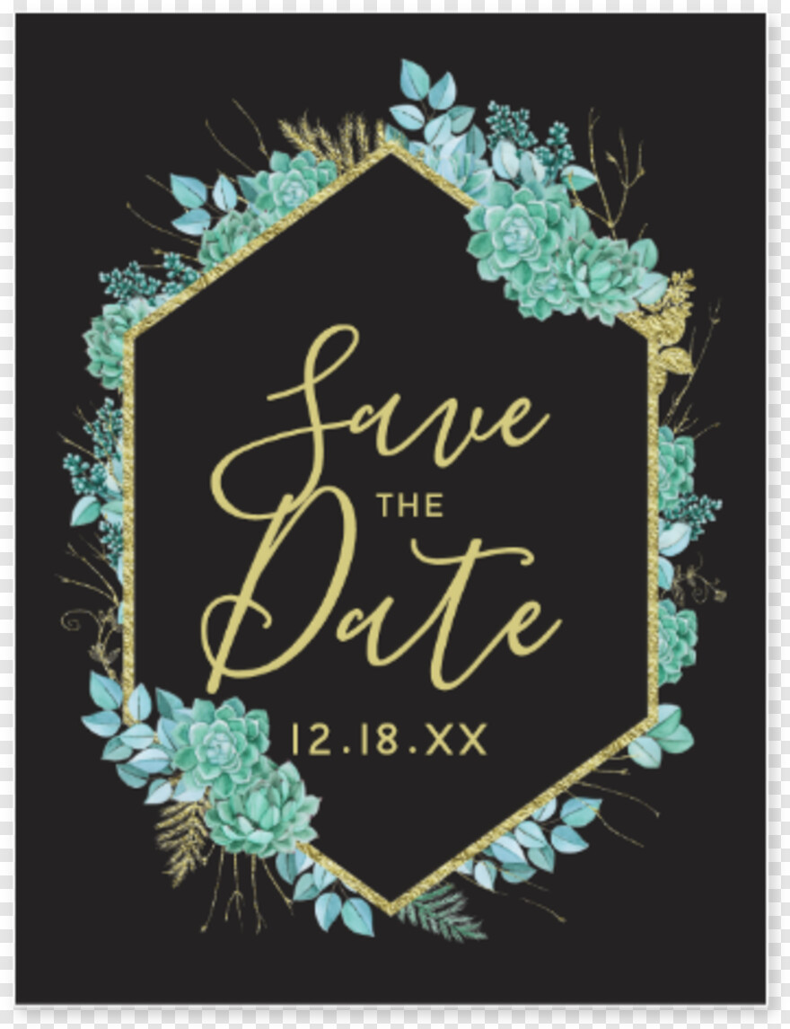 Gold - Wedding Invitation, Png Download