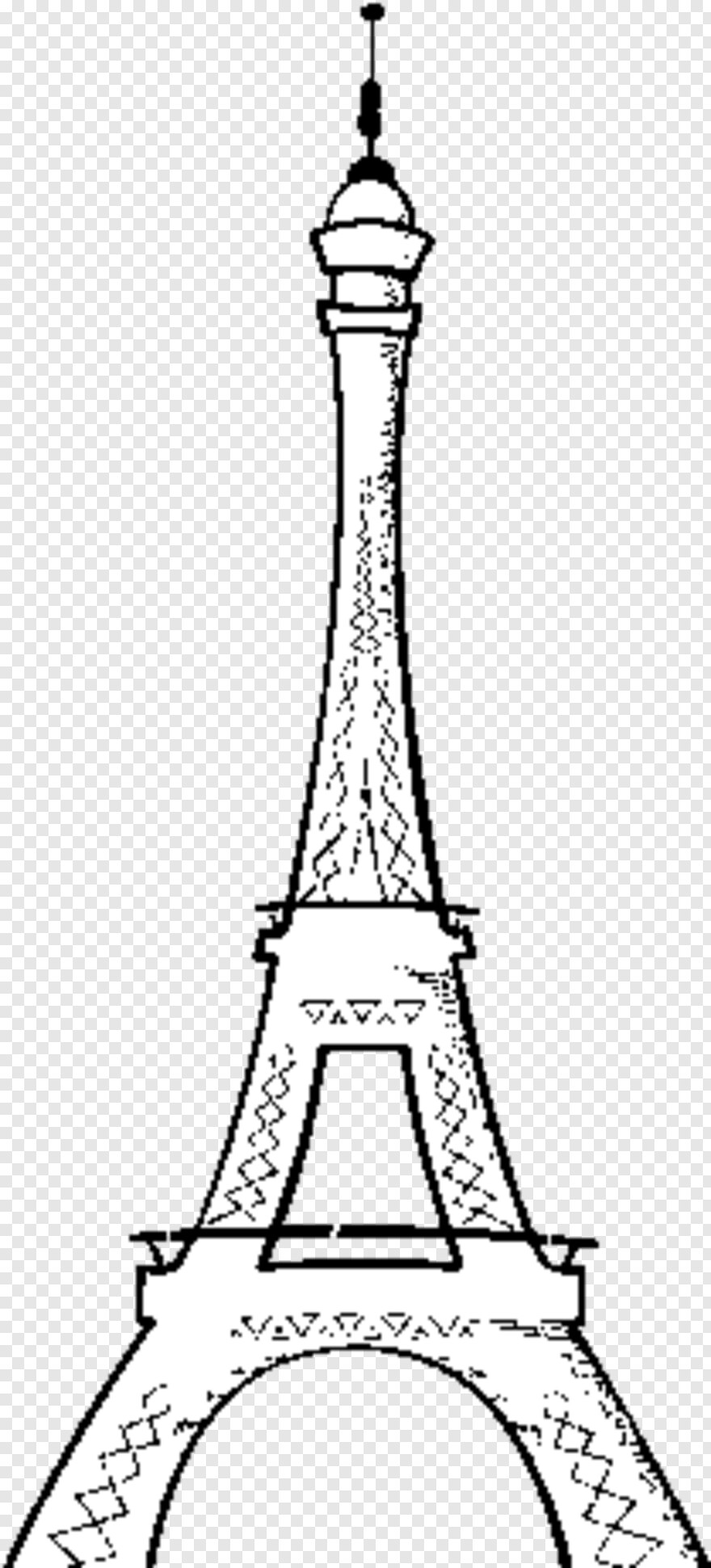- Eiffel Tower - The Eiffel Tower Coloring Page, Transparent Png