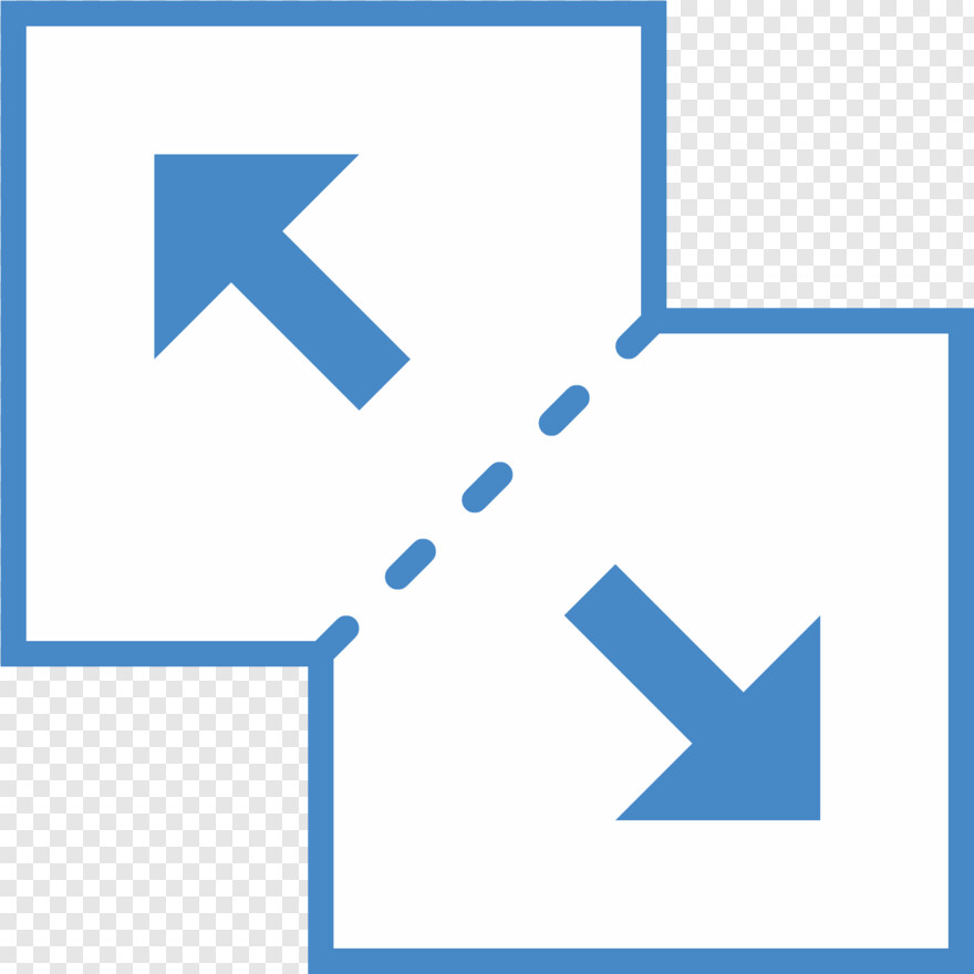 Blue Square - Zoom Out Map Icon, Png Download
