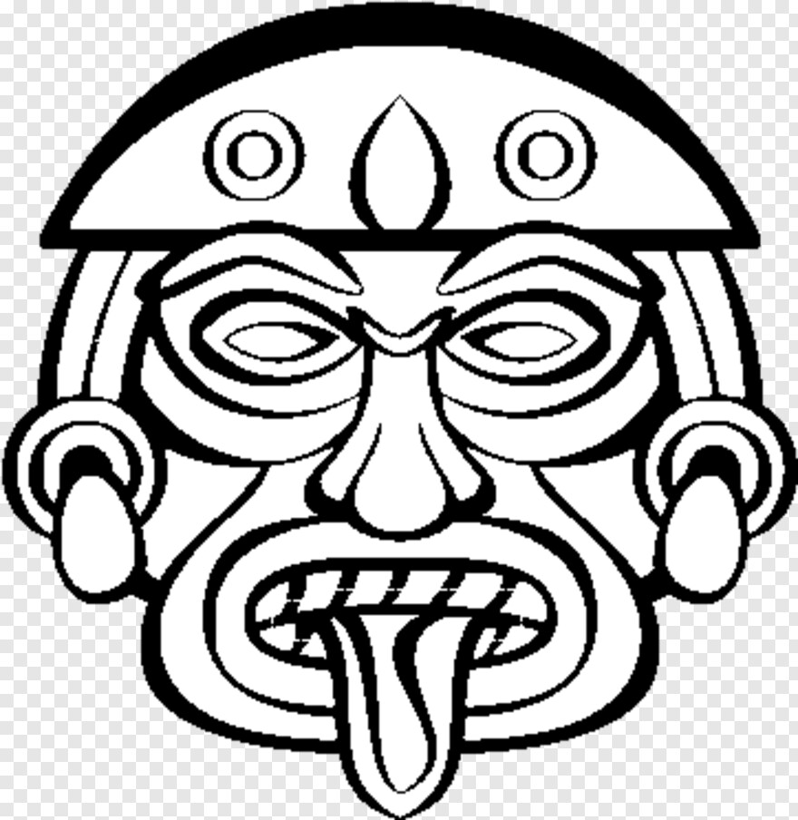 aztec aztec masks easy to draw png download 600x470 2609049