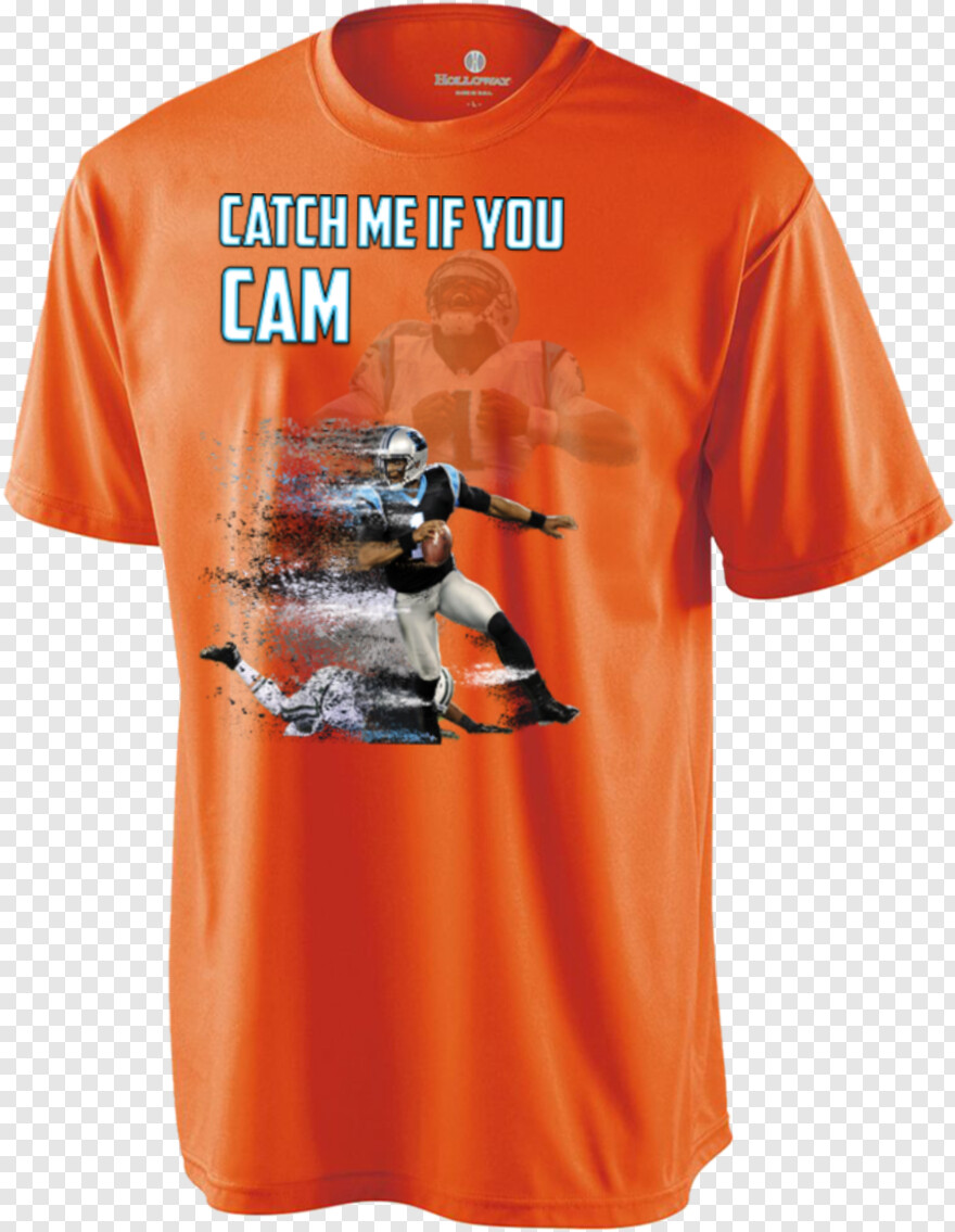 Cam Newton - Holloway Sportswear Boys' Zoom Shirt - Orange - S, Png Download