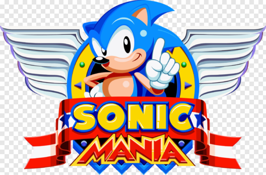 Sonic Mania Logo - Sonic Mania Title Gif, HD Png Download