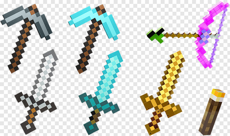 Minecraft Diamond Sword Minecraft Diamond Sword Pickaxe Hd Png Download 748x421 2949924 Png Image Pngjoy