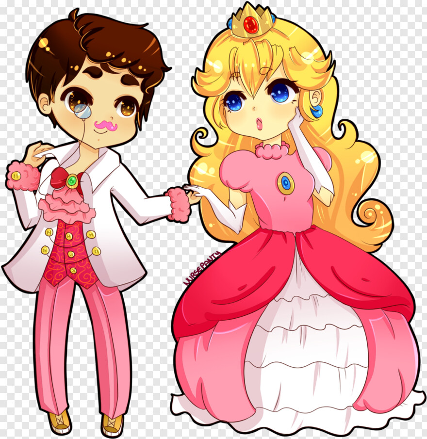 Markiplier Princess Peach And Prince Mario Png Download