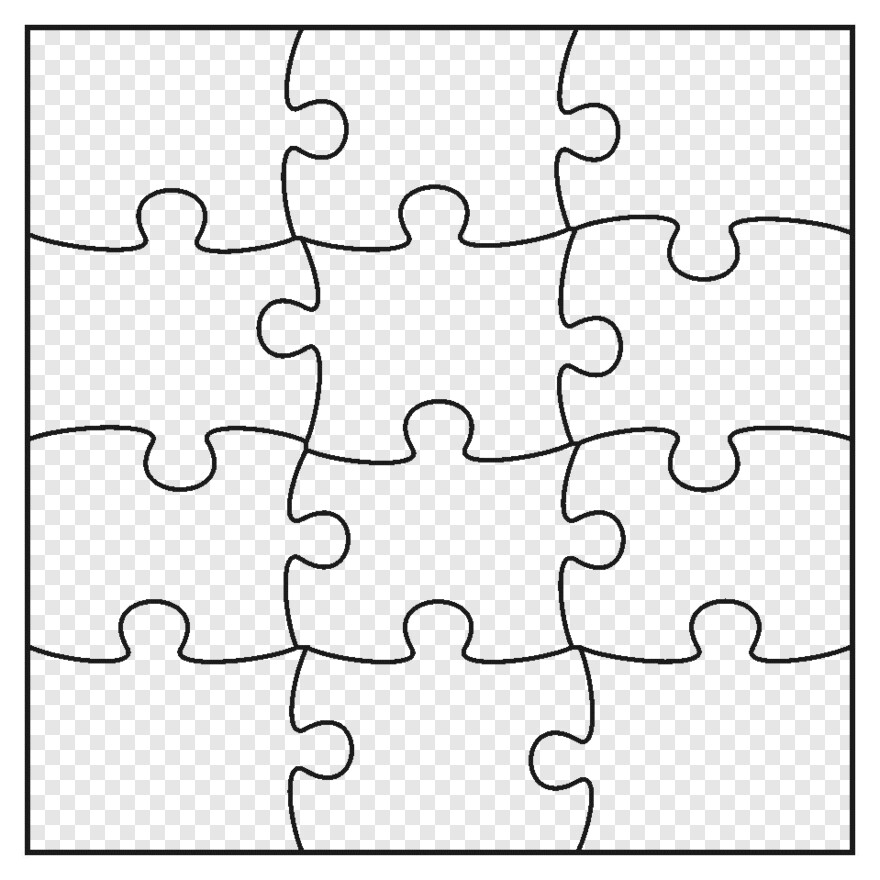 Puzzle Jigsaw Puzzle Template Transparent Png Download