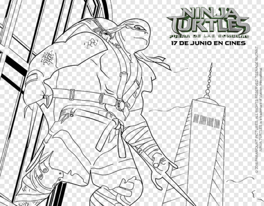 Ninja Turtles Tartaruga Ninja Para Colorir Transparent Png