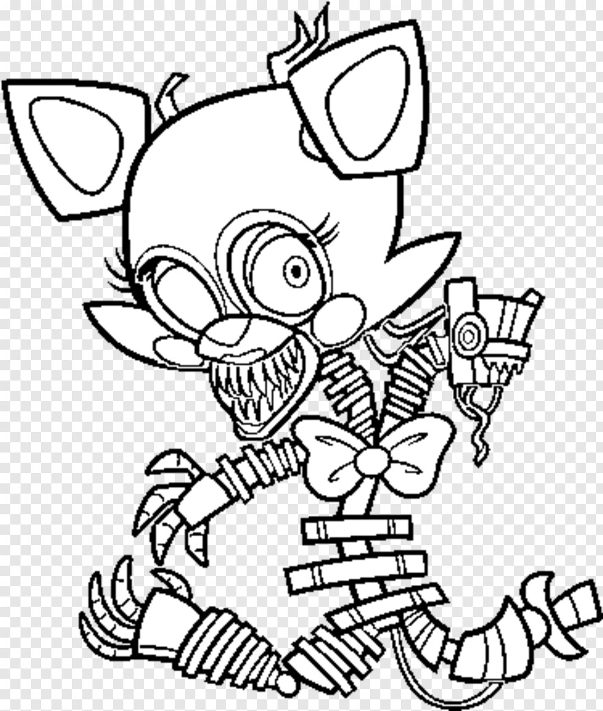 Fnaf Five Nights At Freddy S Mangle Coloring Pages Transparent Png 375x442 3161489 Png Image Pngjoy