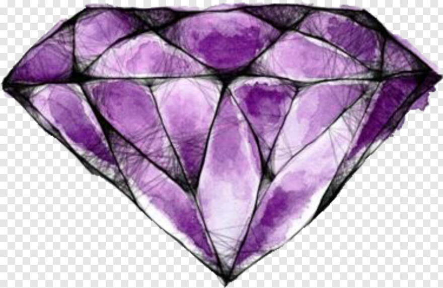 Purple Diamond Desenhos Tumblr De Diamantes Hd Png Download