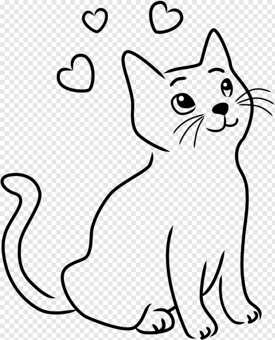 Cute Kitten Cat Drawing Png Download 731x903 3206151 Png Image Pngjoy