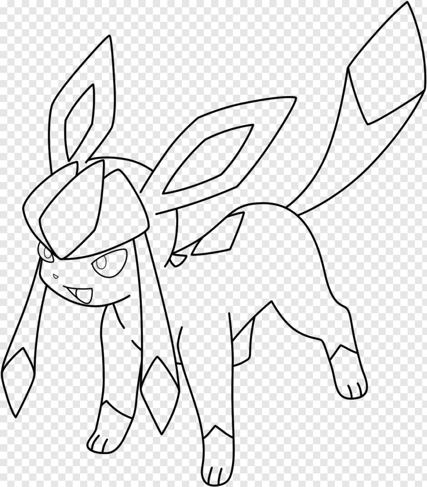 Glaceon Glaceon Pokemon Coloring Pages Eevee Evolutions Transparent Png 1290x1470 3268038 Png Image Pngjoy