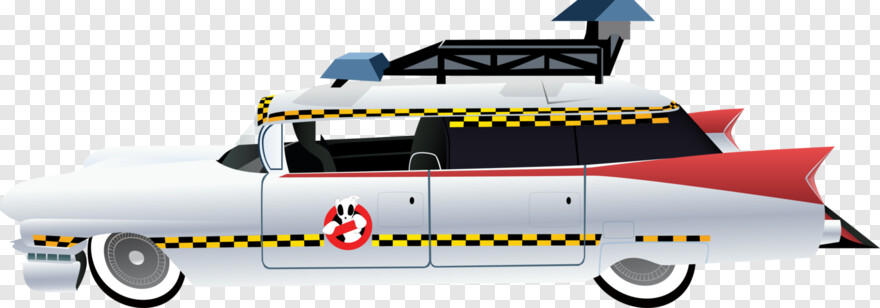 Ghostbusters - Ghostbusters Car Side View, Transparent Png