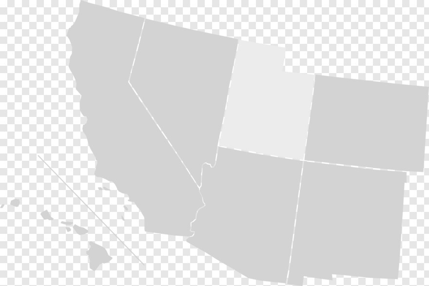 Us Map - Southwest United States Blank Map, HD Png Download ...