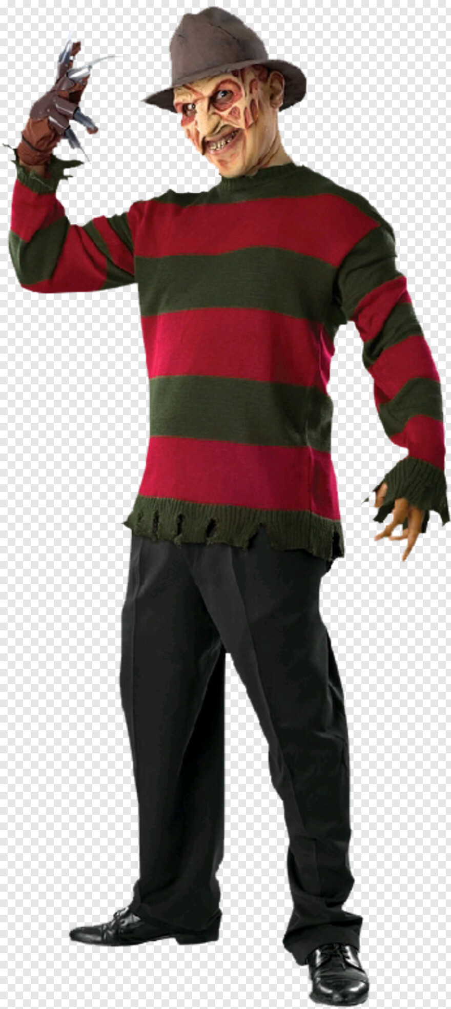 Freddy Krueger - Nightmare On Elm Street Costume, Transparent Png@pngjoy.com