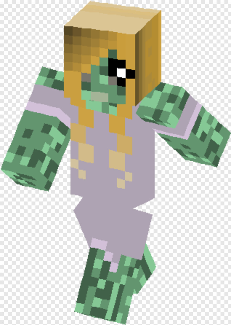 Zombie Girl - Minecraft Green Knight Png, Transparent Png