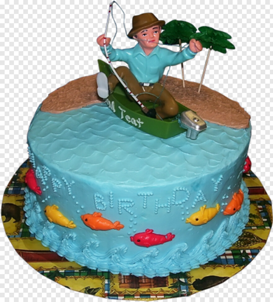Excellent Man Fishing Birthday Cake Idea Fishing Hd Png Download Funny Birthday Cards Online Alyptdamsfinfo
