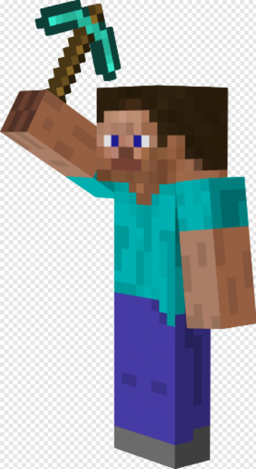 Minecraft Steve Minecraft Steve With Pickaxe Hd Png Download 278x509 527224 Png Image Pngjoy