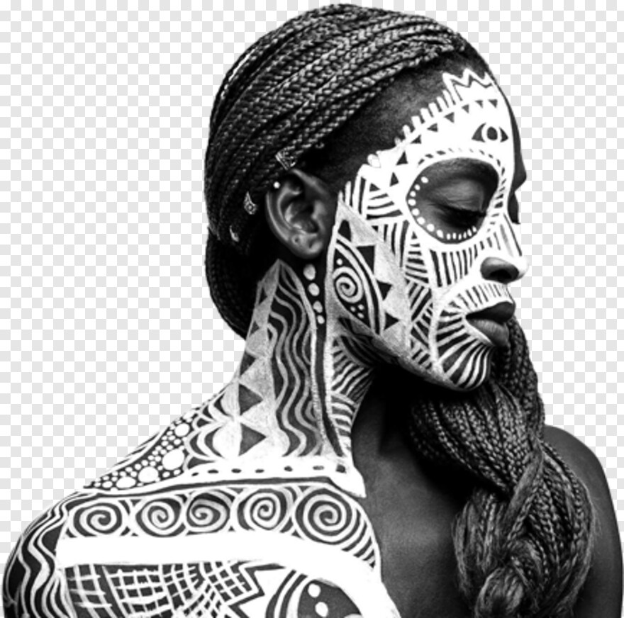 Tribal Pattern - African Black And White Art, Transparent Png