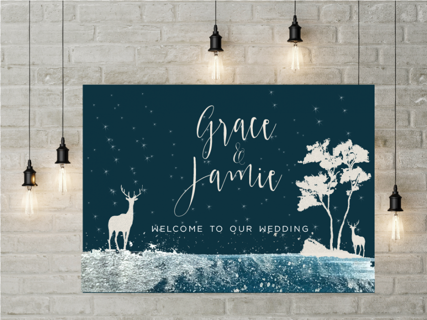 Welcome Sign - Winter Wonderland Welcome Sign, Png Download
