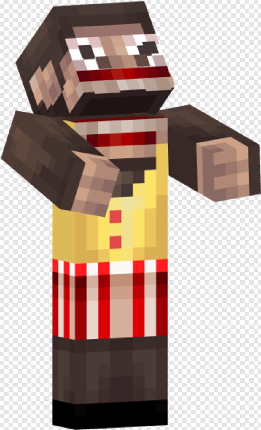 Minecraft Dirt Block - Really Scary Minecraft Skins, Png Download