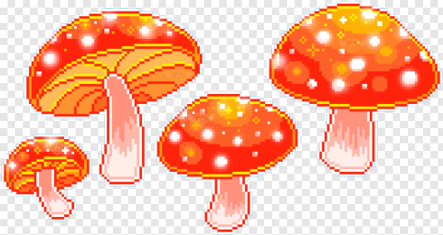 Mushroom Pretty Things Pixels Transparent Png 500x273