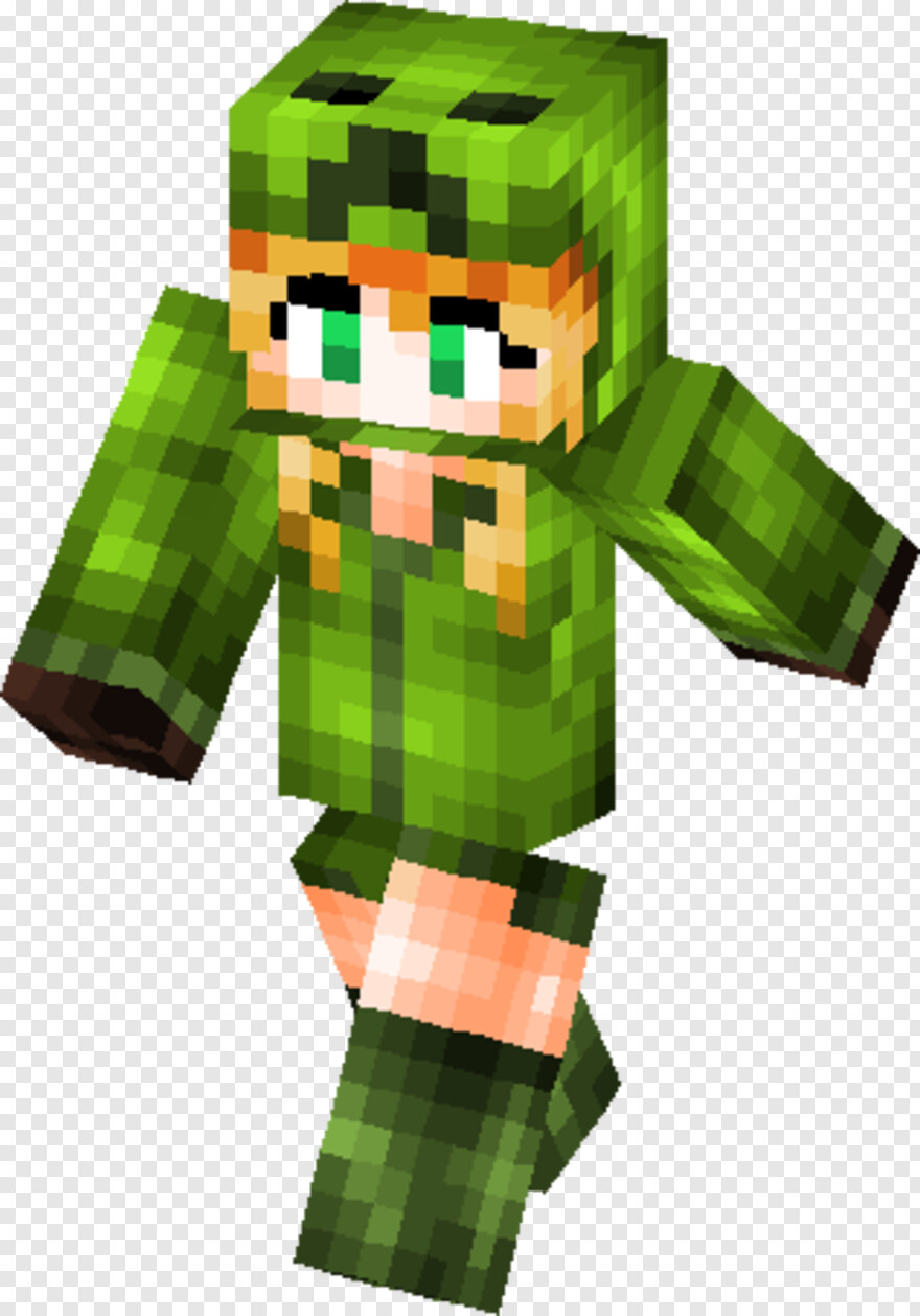 Chica - Skins Minecraft Chica Creeper, HD Png Download - 12x12