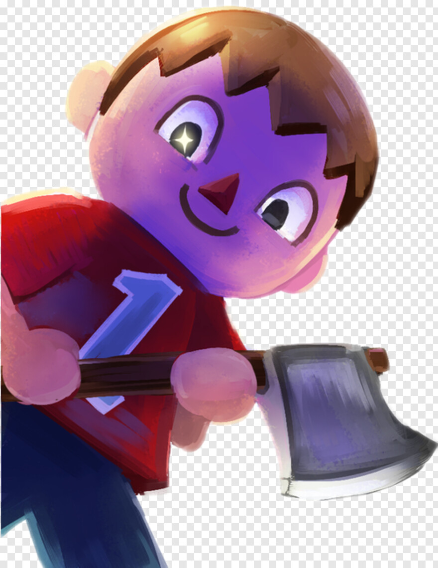 Villager - Villager Animal Crossing Axe, Png Download ...