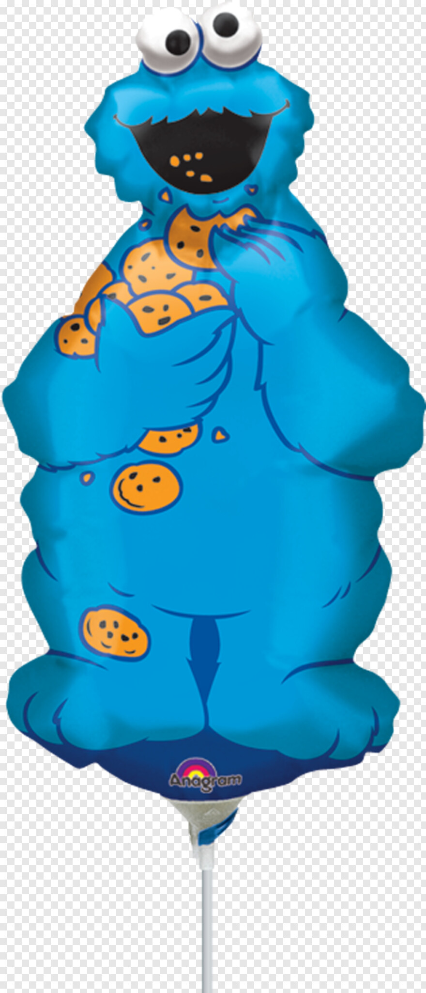 Upc Code Cookie Monster Small Balloons Transparent Png