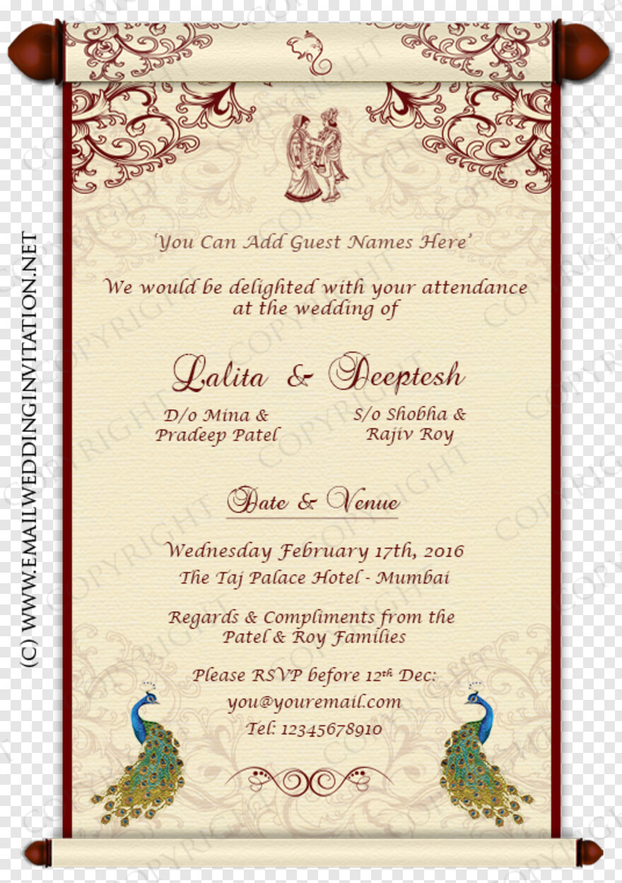Indian Wedding Card Email Wedding Card Designs Hd Png Download 536x761 4743417 Png Image Pngjoy