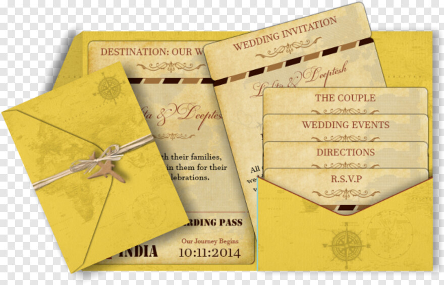 Indian Wedding Card - Indian Destination Wedding Invitations, Transparent Png
