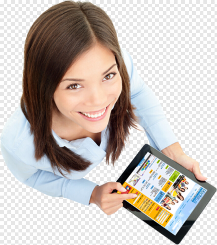 Computer Education Png Ipad Woman Png Download 350x396 4872907 Png Image Pngjoy