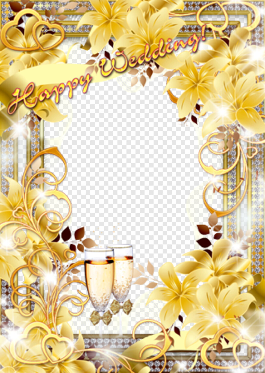 Happy Wedding Happy Wedding Yellow Wedding Png Photo Frame Hd Png Download 319x448 4909588 Png Image Pngjoy