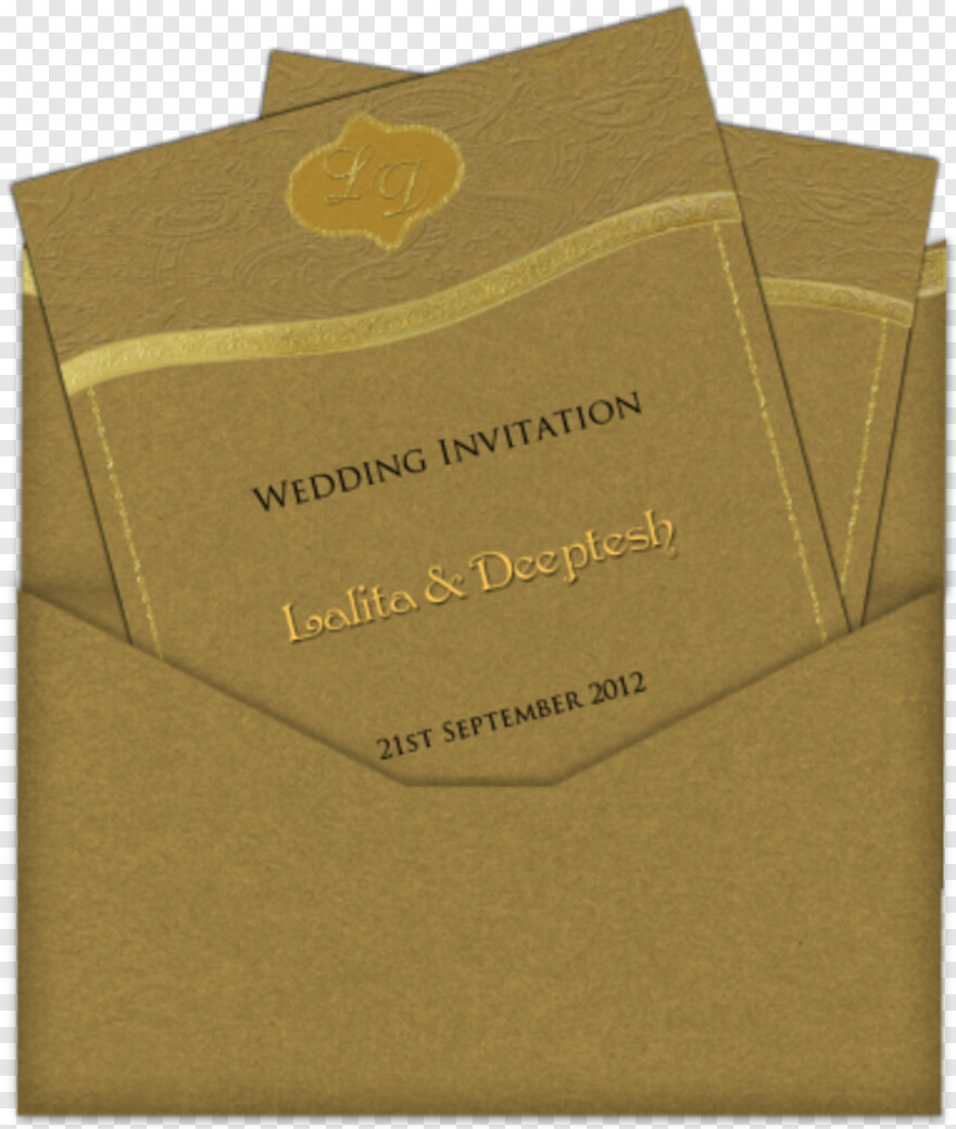 Indian Wedding Symbols Colour - Gold Color Wedding Invitations, Png Download