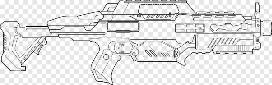 Rifle - Nerf Coloring Pages, Transparent Png - 7714x2426 (#624058) PNG  Image - PngJoy