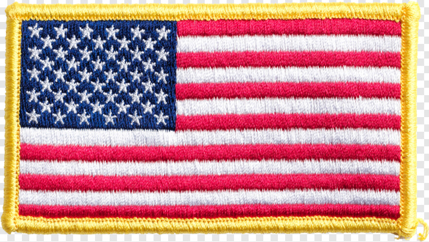 Small American Flag - Us Flag With Yellow Border, Transparent Png