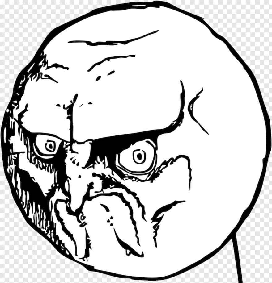 Me Gusta Face - Mad Face Meme, HD Png Download - 674x702 ...