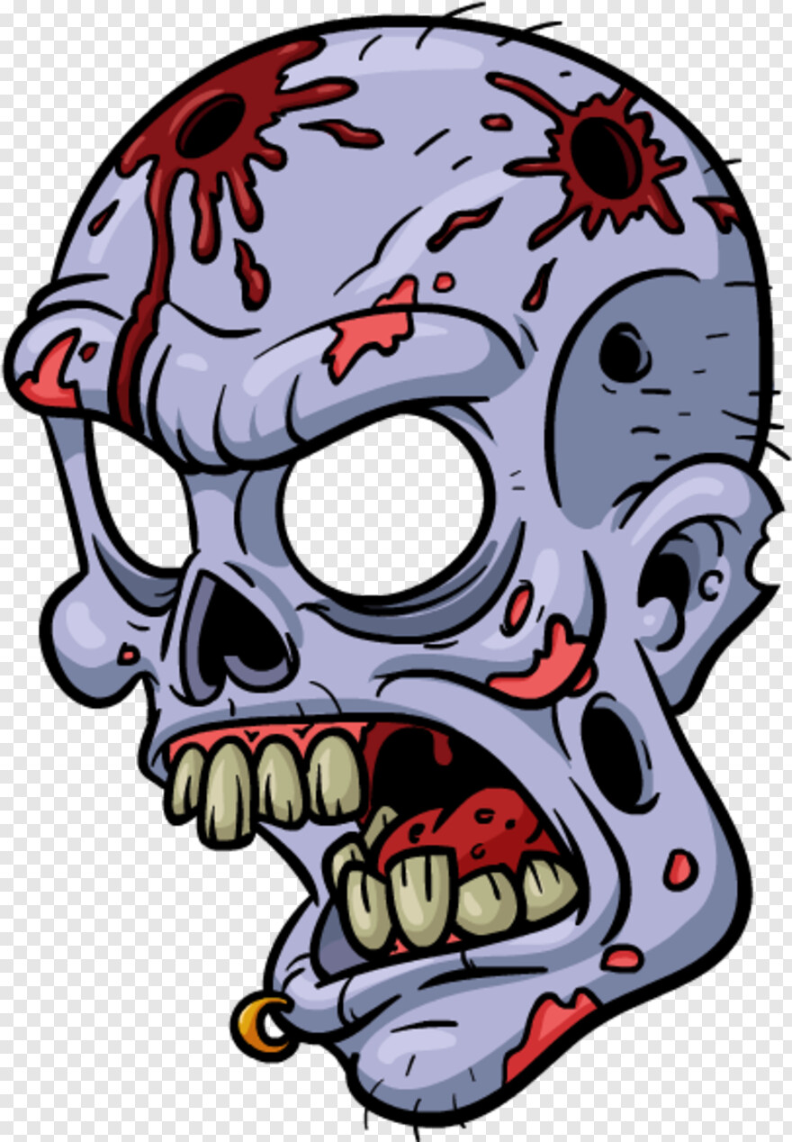 Cartoon Zombie - Cartoon Zombie Face Tattoo, Png Download