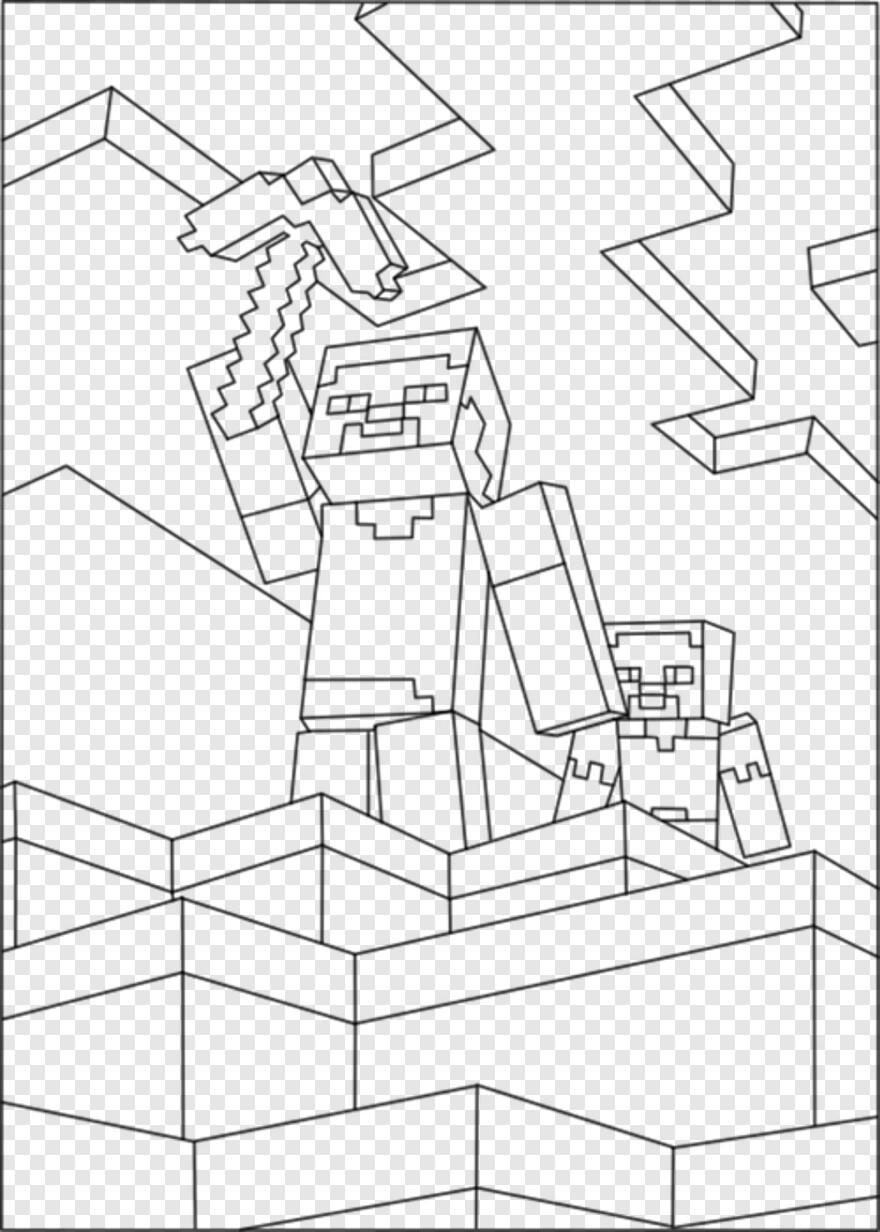 Minecraft Steve Minecraft Coloring Pages Steve And Alex Png
