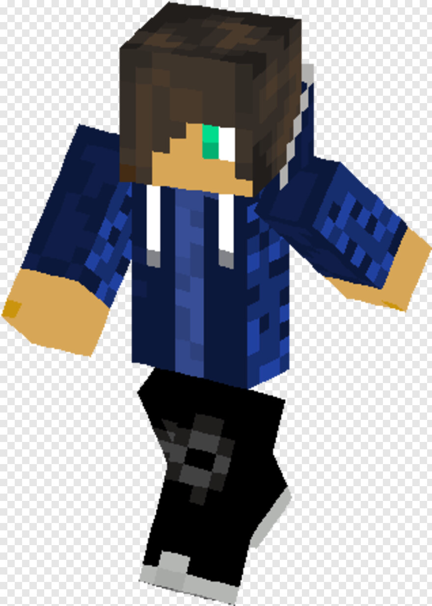 Percy Jackson - Girl With Blue Hoodie Minecraft Skin, Png Download