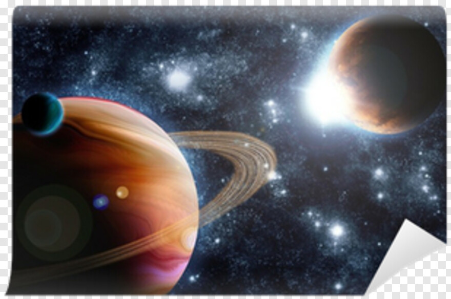 Sunflare - Car Stickers Deep Space Concept Wall Mural, Transparent Png