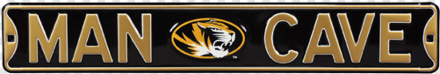 Missouri Tigers Logo - Seattle Seahawks Man Cave Street Sign, Transparent Png