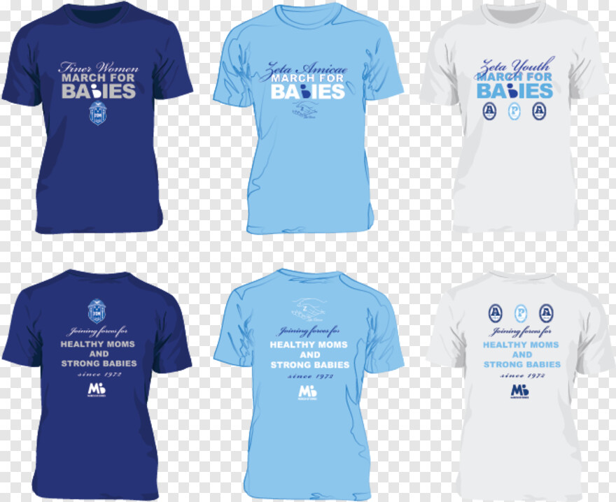 March Of Dimes Logo - Zeta Phi Beta March Of Dimes Shirts, Png Download
