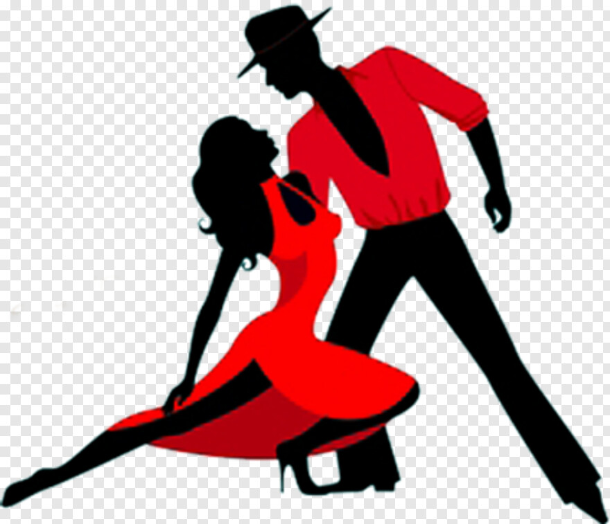 Salsa Dancers Dance Silhouette Red Transparent Hd Png Download 423x364 5974801 Png Image Pngjoy
