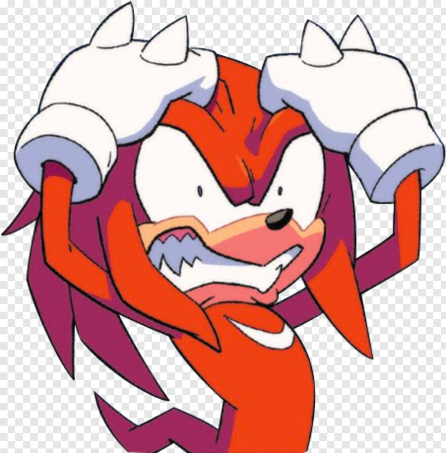 Knuckles The Echidna Sonic The Hedgehog Transparent Png 492x482 6019456 Png Image Pngjoy