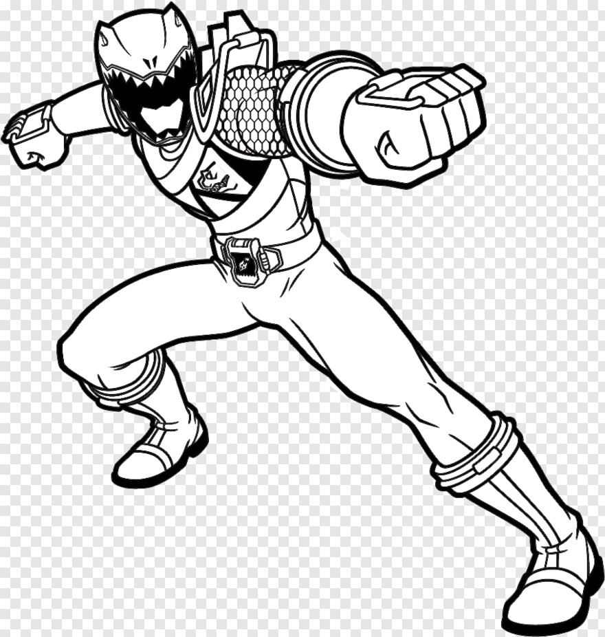 - Power Rangers Dino Charge - Red Power Ranger Dino Charge Coloring