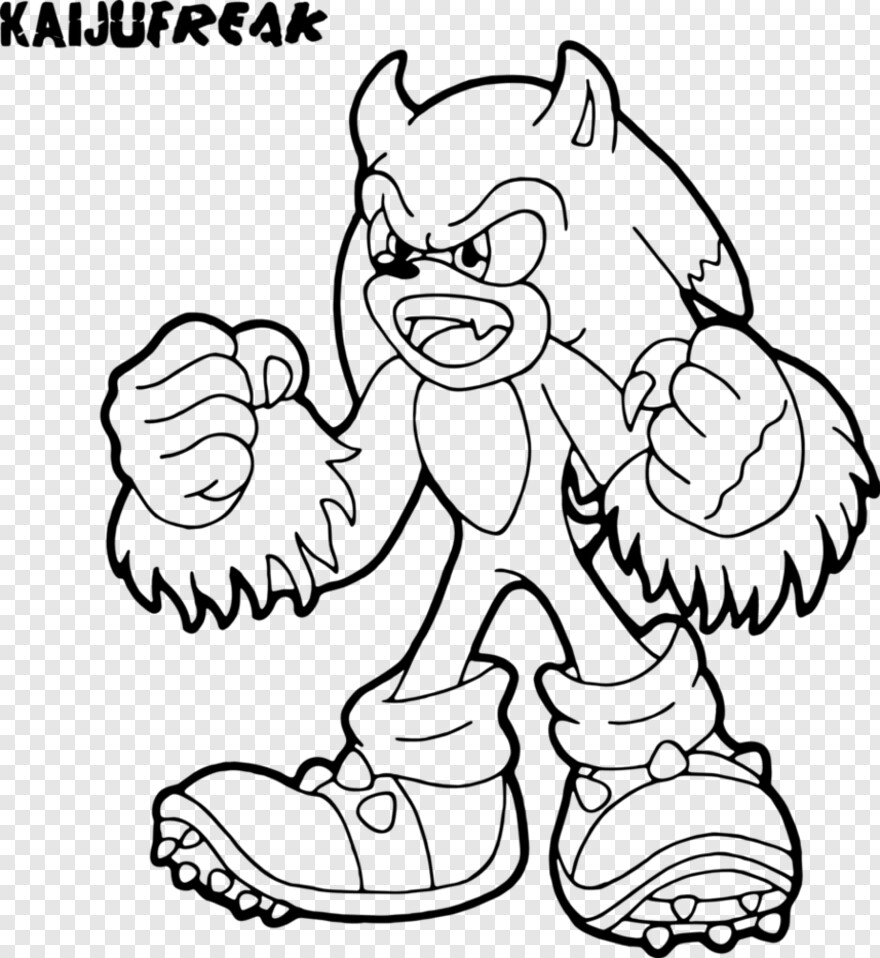 Sonic Lost World Logo - Sonic Werehog Coloring Pages, Png Download