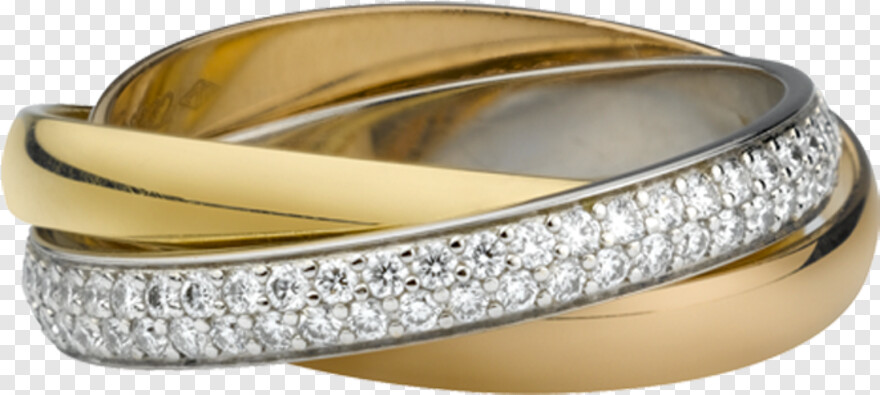The One Ring Cartier Gold Band Ring With Diamonds