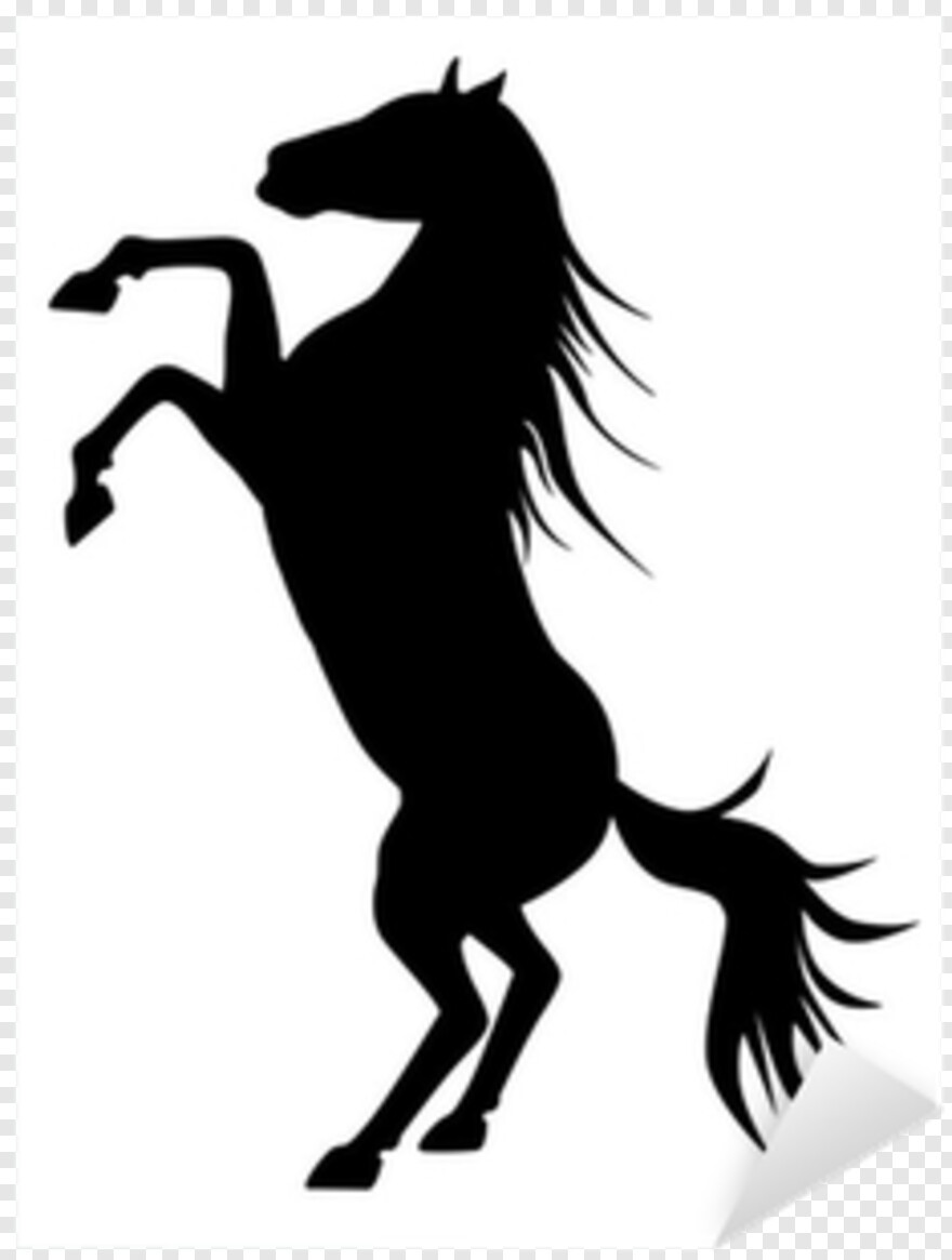 Horse Vector Rearing Horse Silhouette Transparent Png 400x400 6634607 Png Image Pngjoy