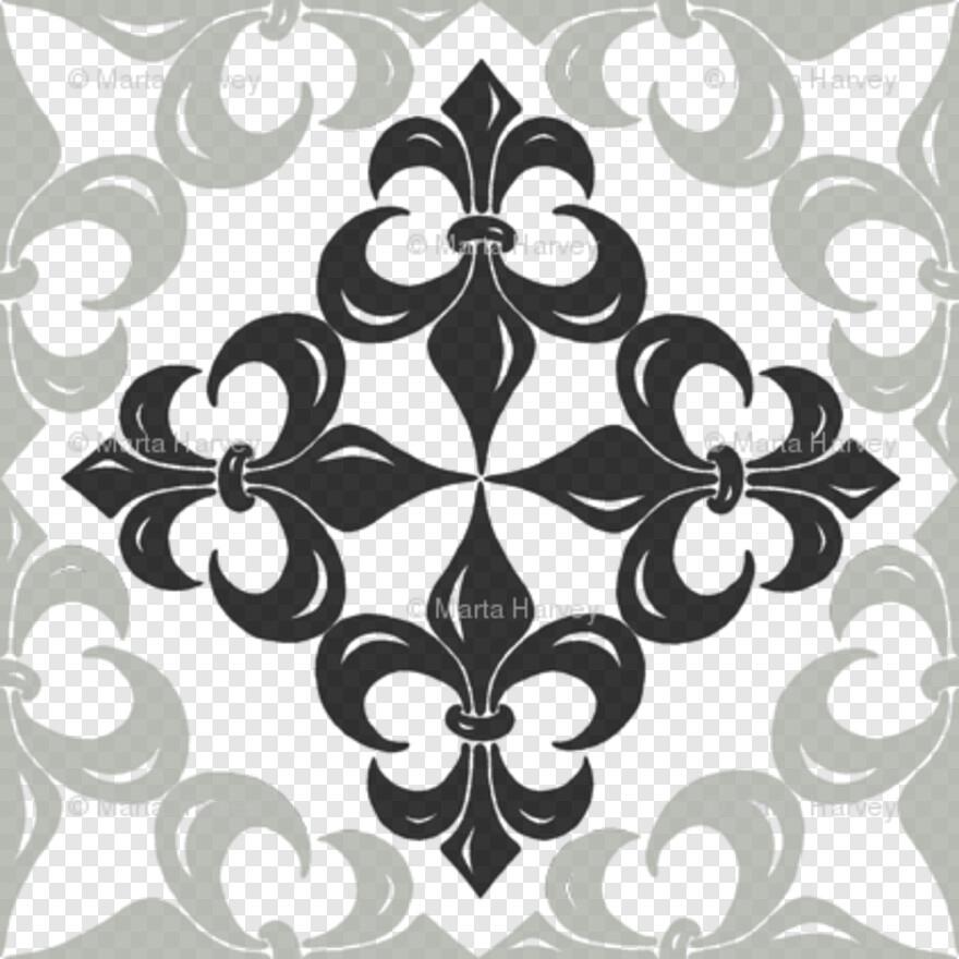 Fleur De Lis Border - Wallpaper, Png Download - 422x422 ...